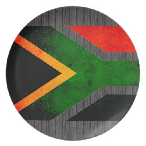 Modern Edgy South African Flag Party Plates