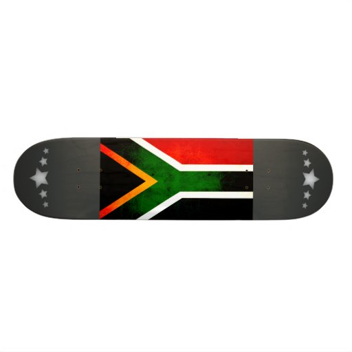 Modern Edgy South African Flag Skate Boards