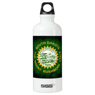 Modern Edgy South Dakotan Flag Aluminum Water Bottle