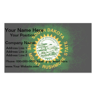Modern Edgy South Dakotan Flag Double-Sided Standard Business Cards (Pack Of 100)