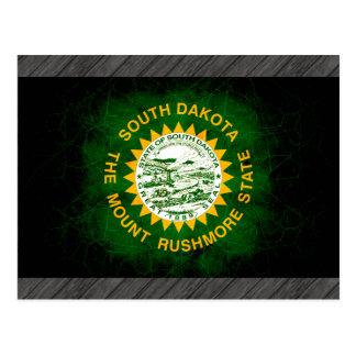 Modern Edgy South Dakotan Flag Postcard
