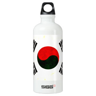 Modern Edgy South Korean Flag Water Bottle