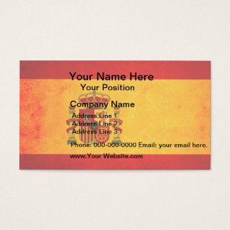 Modern Edgy Spanish Flag Business Card