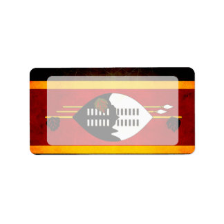 Modern Edgy Swazi Flag Label