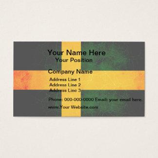 Modern Edgy Swedish Flag Business Card