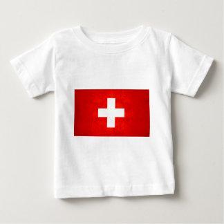 Modern Edgy Swiss Flag Tees