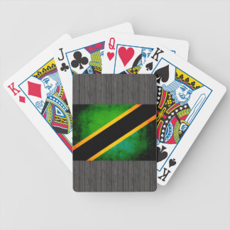 Modern Edgy Tanzanian Flag Bicycle Playing Cards