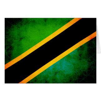 Modern Edgy Tanzanian Flag Card