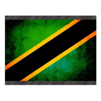 Modern Edgy Tanzanian Flag Postcard