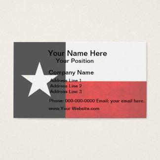 Modern Edgy Texan Flag Business Card