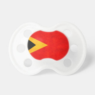 Modern Edgy Timorese Flag Baby Pacifier