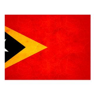 Modern Edgy Timorese Flag Postcard