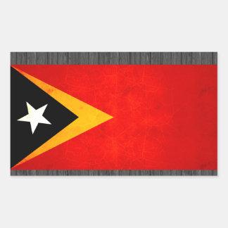 Modern Edgy Timorese Flag Rectangular Sticker