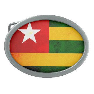 Modern Edgy Togolese Flag Belt Buckle