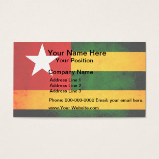 Modern Edgy Togolese Flag Business Card