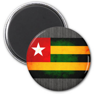 Modern Edgy Togolese Flag Refrigerator Magnets
