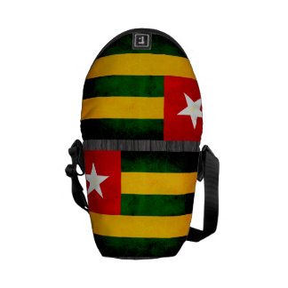 Modern Edgy Togolese Flag Messenger Bag
