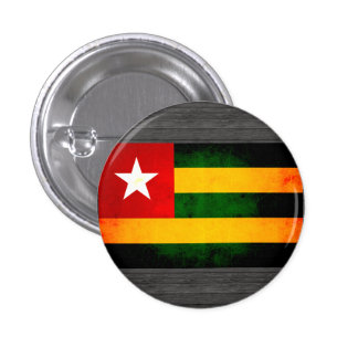 Modern Edgy Togolese Flag Pinback Button