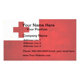 Modern Edgy Tongan Flag Business Card Templates