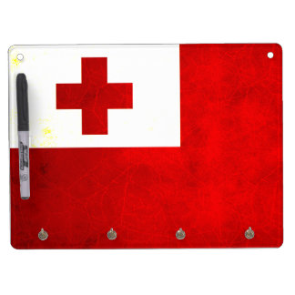 Modern Edgy Tongan Flag Dry-Erase Boards