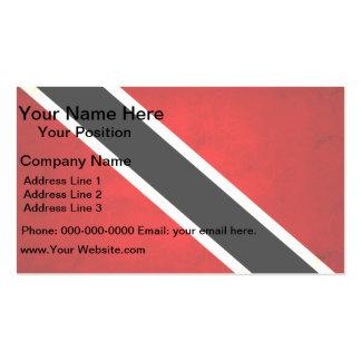Modern Edgy Trinidadian Flag Business Card