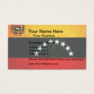 Modern Edgy Venezuelan Flag Business Card