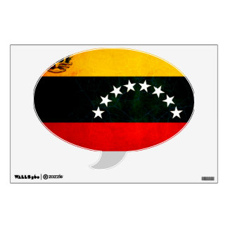 Modern Edgy Venezuelan Flag Wall Sticker