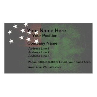 Modern Edgy Vermont Flag Business Card