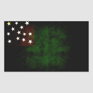 Modern Edgy Vermont Flag Rectangular Sticker