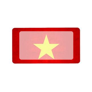 Modern Edgy Vietnamese Flag Custom Address Label