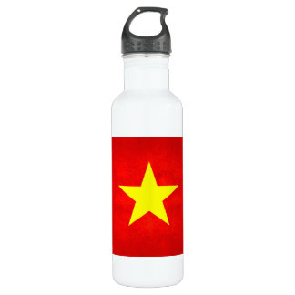 Modern Edgy Vietnamese Flag 24oz Water Bottle