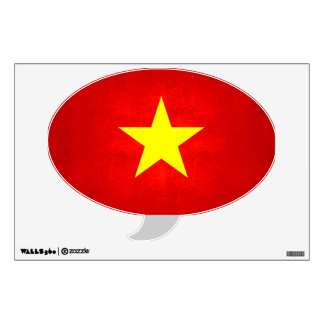 Modern Edgy Vietnamese Flag Wall Decal