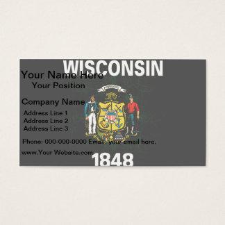 Modern Edgy Wisconsinite Flag Business Card