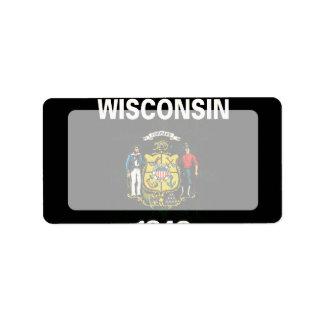 Modern Edgy Wisconsinite Flag Label