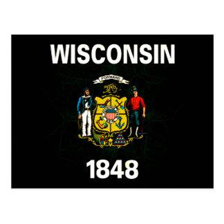 Modern Edgy Wisconsinite Flag Postcard