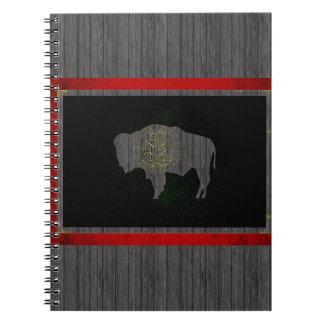 Modern Edgy Wyomingite Flag Notebook
