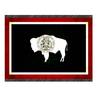 Modern Edgy Wyomingite Flag Postcard
