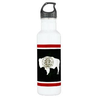 Modern Edgy Wyomingite Flag Water Bottle