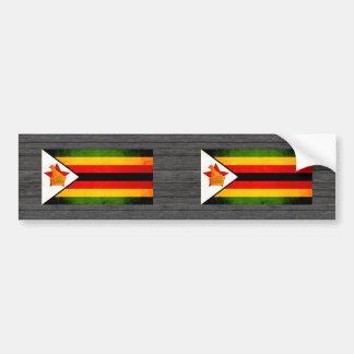 Modern Edgy Zimbabwean Flag Bumper Sticker