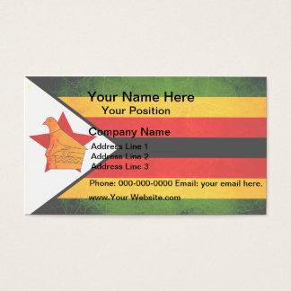 Modern Edgy Zimbabwean Flag Business Card