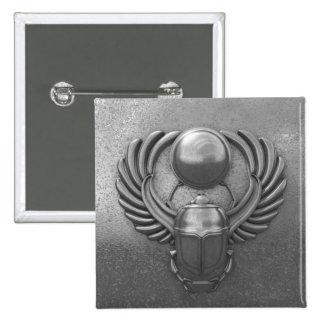 Modern Egyptian Scarab Pinback Button