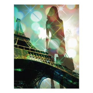 Modern Eiffel Tower Paris Bridal Shower Letterhead