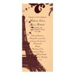 modern eiffel tower vintage paris wedding programs full color rack card