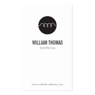 MODERN ELECTRICIAN LOGO Double-Sided STANDARD BUSINESS CARDS (Pack OF 100)