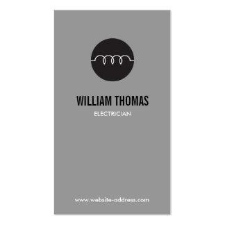 MODERN ELECTRICIAN LOGO on GRAY Business Card