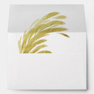 Modern Elegance Abstract Wedding Self-Addressed Envelope
