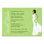 "Modern Elegance Bridal Shower Invitation 4.5"" X 6.25"" Invitation Card"