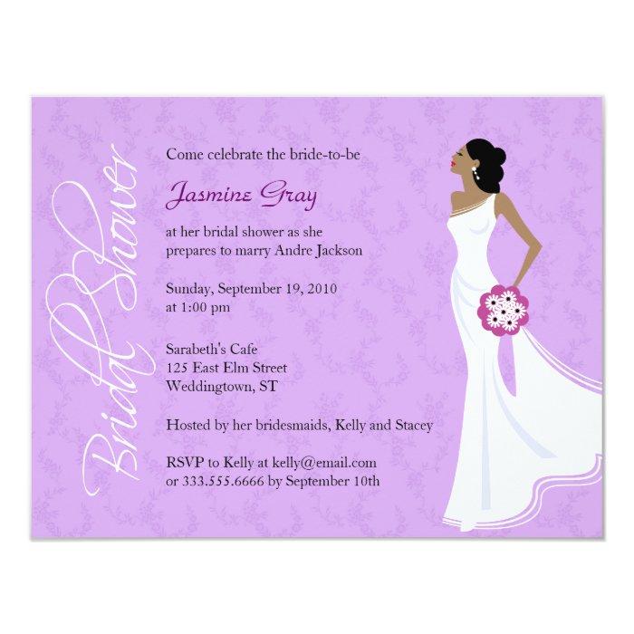 Modern elegance bridal shower invitation zazzle for Modern bridal shower invitations