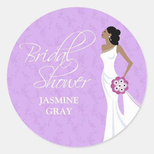 Modern Elegance Bridal Shower Sticker