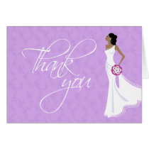 Modern Elegance Bridal Shower Thank You Card